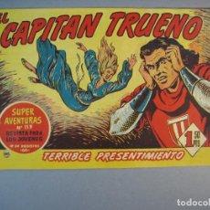 Tebeos: CAPITAN TRUENO, EL (1956, BRUGUERA) 140 · 8-VI-1959 · TERRIBLE PRESENTIMIENTO. Lote 136037274