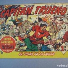 Tebeos: CAPITAN TRUENO, EL (1956, BRUGUERA) 139 · 1-VI-1959 · EL FINAL DE LA LUCHA. Lote 136038202