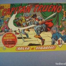 Tebeos: CAPITAN TRUENO, EL (1956, BRUGUERA) 231 · 6-III-1961 · RALEA DE COBARDES. Lote 136042770