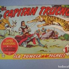Tebeos: CAPITAN TRUENO, EL (1956, BRUGUERA) 334 · 25-II-1963 · LA JUNGLA DE LOS TIGRES. Lote 136045610