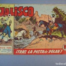 """Tebeos: JALISCO (1963, BRUGUERA) 14 · 16-III-1964 · TRAS LA PISTA DE """"DÓLAR"""". Lote 136086578"""
