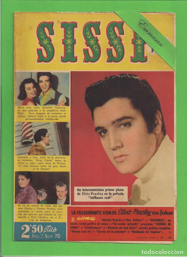 SISSI - Nº 70 - LA FULGURANTE VIDA DE ELVIS PRESLEY - BRUGUERA. (1959). (Tebeos y Comics - Bruguera - Sissi)