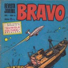 Tebeos: BRAVO - REVISTA JUVENIL- Nº 13 -AQUILES TALÓN-GALAX-MICHEL TANGUY-BLUEBERRY-1968-BUENO-LEAN-9522. Lote 136854830