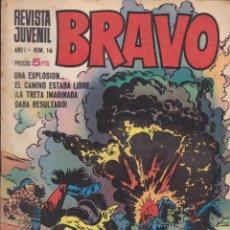 Tebeos: BRAVO - REVISTA JUVENIL- Nº 16 -AQUILES TALÓN-GALAX-MICHEL TANGUY-BLUEBERRY-1968-BUENO-LEAN-9523. Lote 136858790