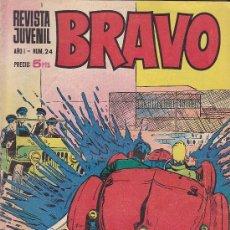 Tebeos: BRAVO - REVISTA JUVENIL- Nº 24 -AQUILES TALÓN-GALAX-MICHEL TANGUY-BLUEBERRY-1968-BUENO-LEAN-9526. Lote 136886766