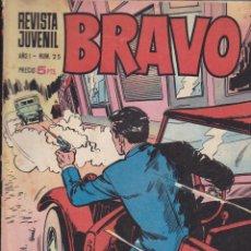 Tebeos: BRAVO - REVISTA JUVENIL- Nº 25 -AQUILES TALÓN-GALAX-MICHEL TANGUY-BLUEBERRY-1968-BUENO-LEAN-9527. Lote 136890038