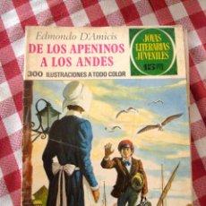 Tebeos: COMIC JOYAS LITERARIAS PTAS 15, D AMICIS DE LOS APENINOS A LOS ANDES NUMERO 75. Lote 136890802