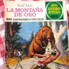 Tebeos: COMIC JOYAS LITERARIAS PTAS 15, KARL MAY LA MONTAÑA DE ORO NUMERO 43 AZUL. Lote 137104482