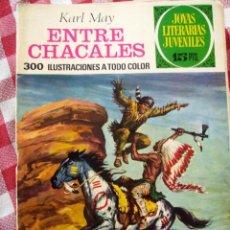 Tebeos: COMIC JOYAS LITERARIAS PTAS 15 KARL MAY, ENTRE CHACALES NUMERO 45 AZUL. Lote 137104506