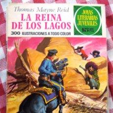 Tebeos: COMIC JOYAS LITERARIAS PTAS 15 MAYNE REID LA REINA DE LOS LAGOS NUMERO 61 AZUL. Lote 137105074