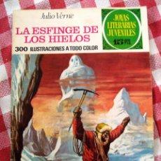Tebeos: COMIC JOYAS LITERARIAS PTAS 15, VERNE LA ESFINGE DE LOS HIELOS NUMERO 65 AZUL. Lote 137105106