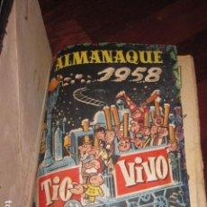 Tebeos: TOMO DE TEBEOS DE TIO VIVO DEL 1 AL 29 + ALMANAQUE DE 1958, EXTRA CINE Y EXTRA TERROR, TOTAL 32 NOS.. Lote 137197426