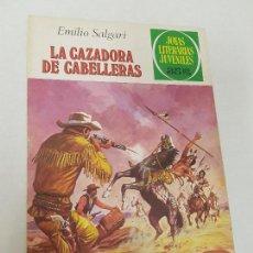 Tebeos: JOYAS LITERARIAS JUVENILES- Nº 206 -LA CAZADORA DE CABELLERAS-JUAN ESCANDEL-1ª EDIC-1979. Lote 137502950