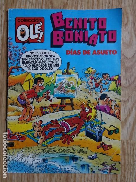 BENITO BONIATO DÍAS DE ASUETO OLE Nº 5 BRUGUERA 1984 1ª EDICIÓN VER FOTOS (Tebeos y Comics - Bruguera - Ole)
