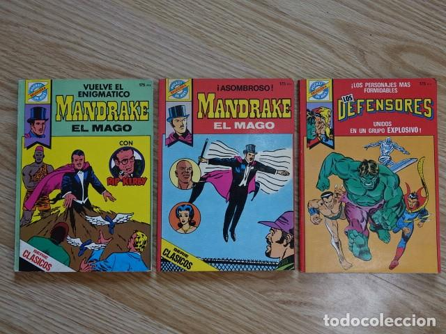 LOTE 3 POCKET DE ASES BRUGUERA MANDRAKE EL MAGO RIP KIRBY LOS DEFENSORES SERIE CLASICOS 29 33 (Tebeos y Comics - Bruguera - Otros)