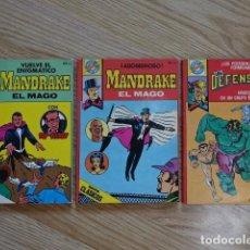 Tebeos: LOTE 3 POCKET DE ASES BRUGUERA MANDRAKE EL MAGO RIP KIRBY LOS DEFENSORES SERIE CLASICOS 29 33. Lote 137969714