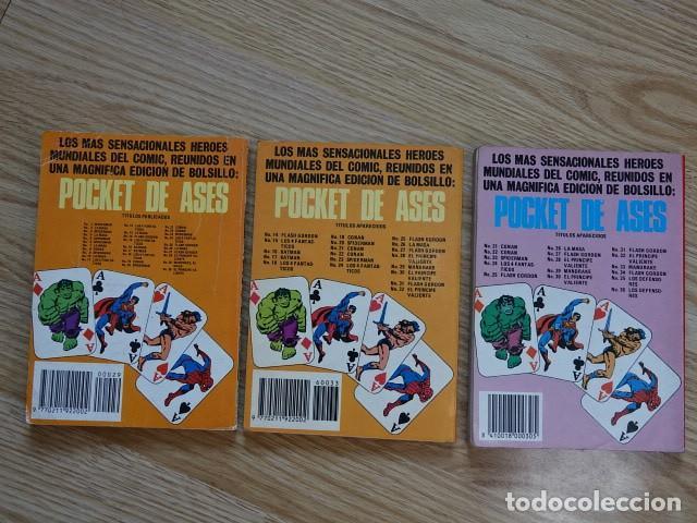 Tebeos: Lote 3 Pocket de ases Bruguera Mandrake El mago Rip Kirby Los Defensores Serie clasicos 29 33 - Foto 2 - 137969714