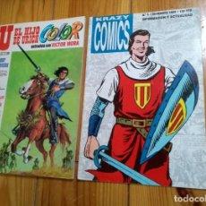 Tebeos: DOS REVISTAS DE COMICS - KRAZY COMICS 3 Y U EL HIJO DE URICH 16 - CAPITÁN TRUENO. Lote 138110590