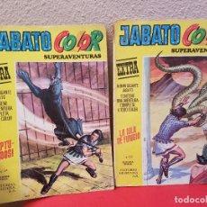 Tebeos: LOTE COMIC TEBEO EL JABATO ALBUM COLOR GIGANTE EXTRA SUPERAVENTURAS Nº 34,32 1975 BRUGUERA. Lote 139463682
