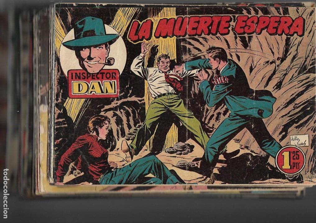 Tebeos: Inspector Dan, Año 1.951. Colección Completa son 72. Tebeos Originales Dibujos Eugenio Giner - Foto 15 - 139783642