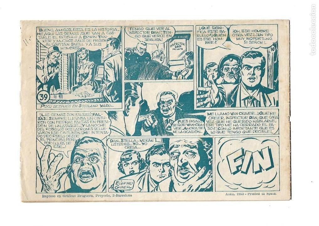 Tebeos: Inspector Dan, Año 1.951. Colección Completa son 72. Tebeos Originales Dibujos Eugenio Giner - Foto 4 - 139783642