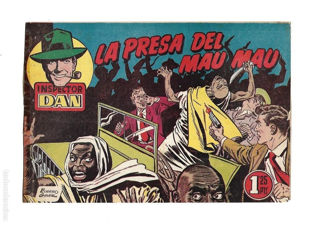 Tebeos: Inspector Dan, Año 1.951. Colección Completa son 72. Tebeos Originales Dibujos Eugenio Giner - Foto 7 - 139783642