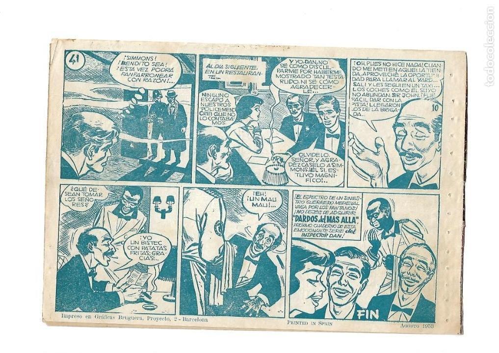 Tebeos: Inspector Dan, Año 1.951. Colección Completa son 72. Tebeos Originales Dibujos Eugenio Giner - Foto 8 - 139783642