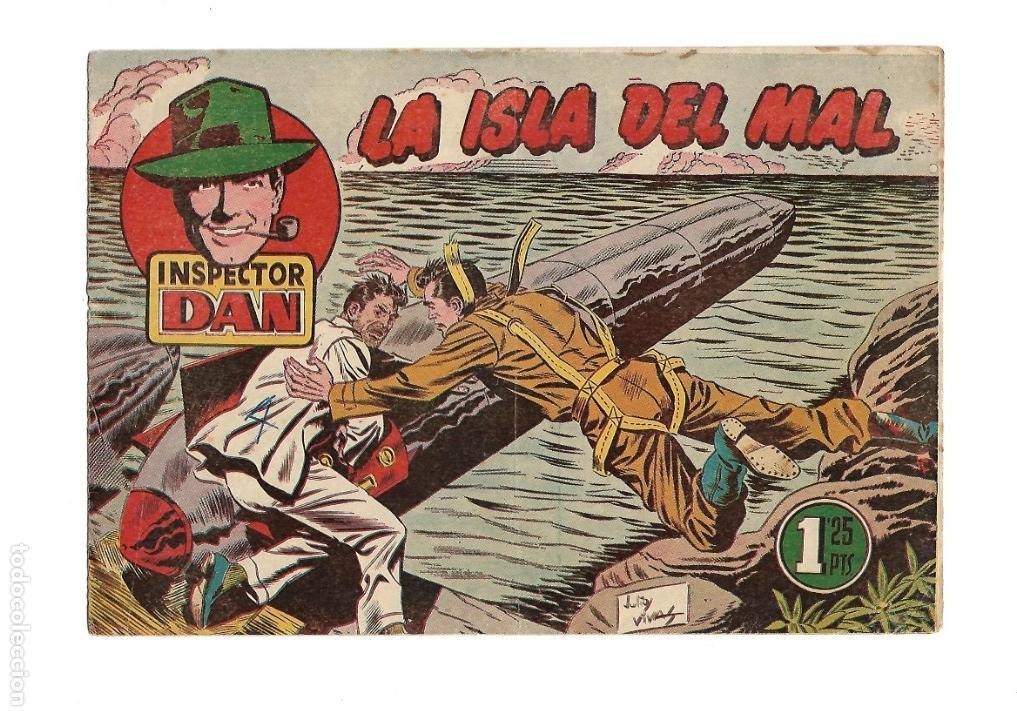 Tebeos: Inspector Dan, Año 1.951. Colección Completa son 72. Tebeos Originales Dibujos Eugenio Giner - Foto 13 - 139783642