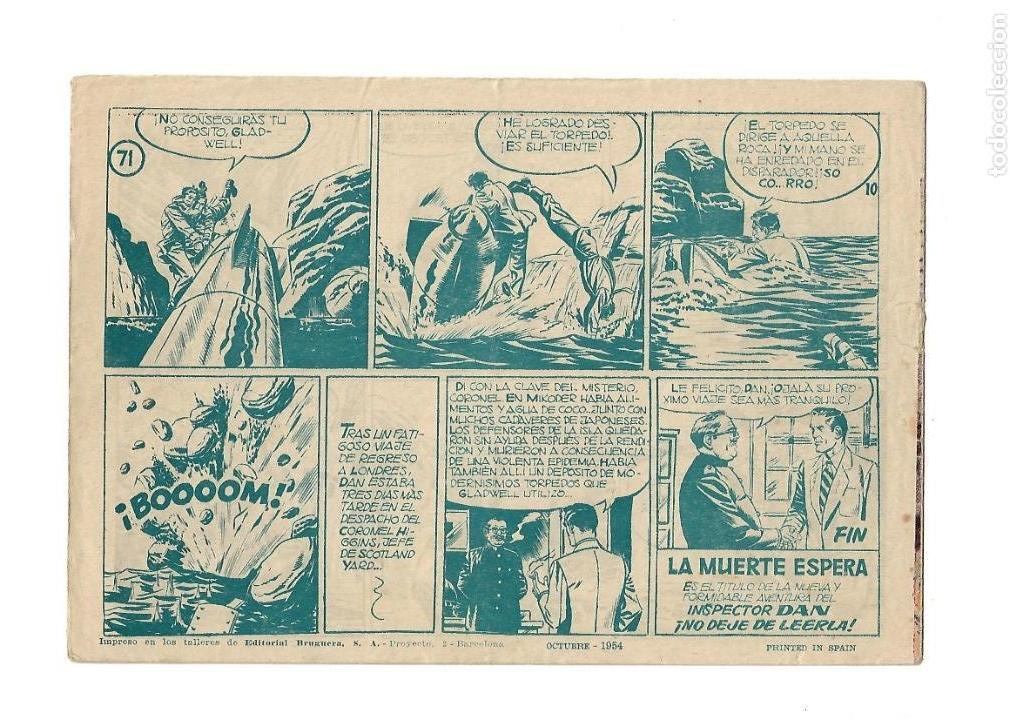 Tebeos: Inspector Dan, Año 1.951. Colección Completa son 72. Tebeos Originales Dibujos Eugenio Giner - Foto 14 - 139783642