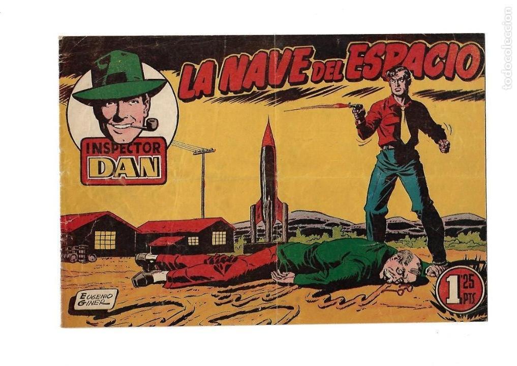 Tebeos: Inspector Dan, Año 1.951. Colección Completa son 72. Tebeos Originales Dibujos Eugenio Giner - Foto 9 - 139783642