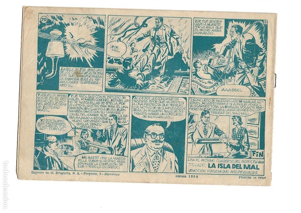 Tebeos: Inspector Dan, Año 1.951. Colección Completa son 72. Tebeos Originales Dibujos Eugenio Giner - Foto 12 - 139783642
