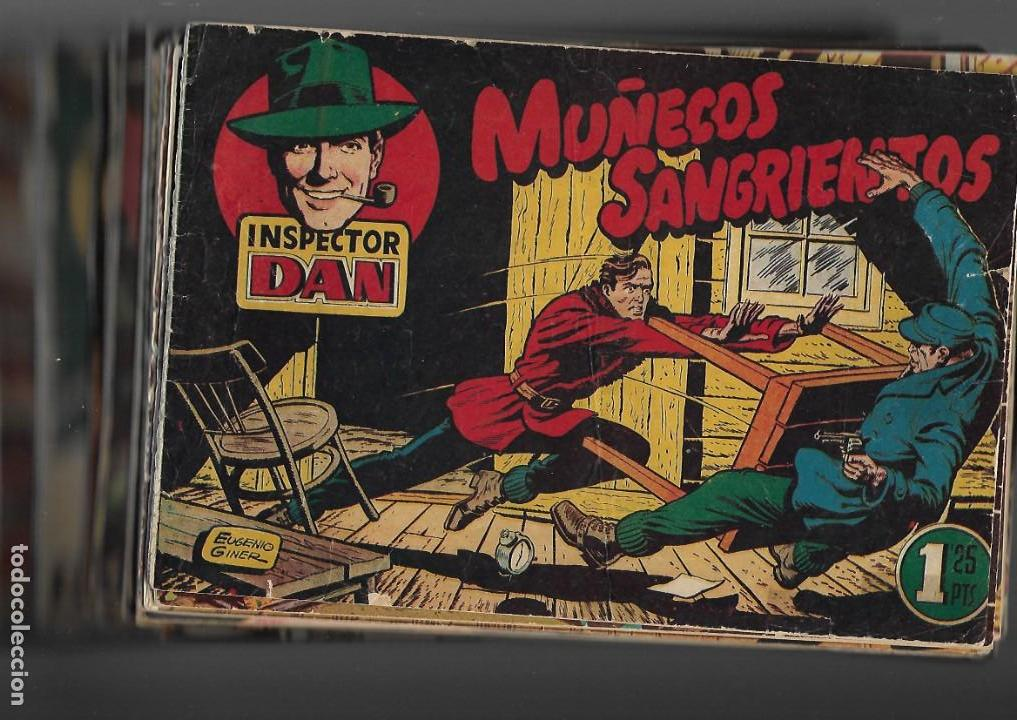 INSPECTOR DAN, AÑO 1.951. COLECCIÓN COMPLETA SON 72. TEBEOS ORIGINALES DIBUJOS EUGENIO GINER (Tebeos y Comics - Bruguera - Inspector Dan)