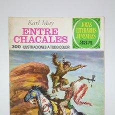 Tebeos: CÓMIC - ENTRE CHACALES, KARL MAY /JOYAS LITERARIAS - EDIT. BRUGUERA - 1976 3ª EDICIÓN. Lote 139812300