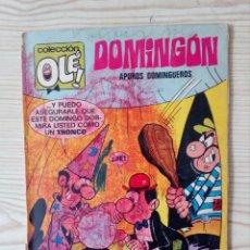 Tebeos: OLE DOMINGON - APUROS DOMINGUEROS - BRUGUERA - 58 PAGINAS. Lote 140288062