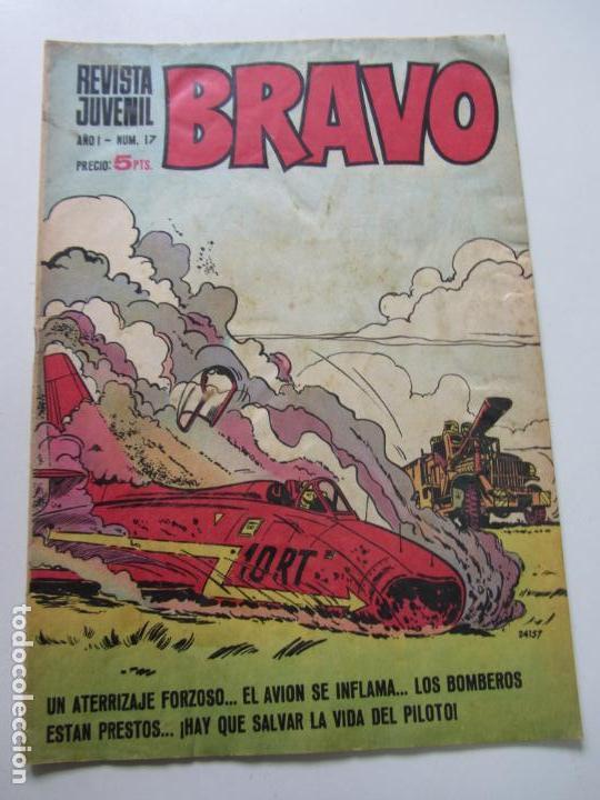 BRAVO - REVISTA JUVENIL- Nº 17 -AQUILES TALÓN-GALAX-MICHEL TANGUY BLUEBERRY 1968 BRUGUERA C12 (Tebeos y Comics - Bruguera - Bravo)