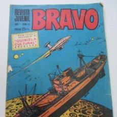 Tebeos: BRAVO - REVISTA JUVENIL- Nº 13 -AQUILES TALÓN-GALAX-MICHEL TANGUY BLUEBERRY 1968 BRUGUERA C12. Lote 140490770