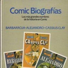 Tebeos: GRANDES BIOGRAFIAS Nº 3 - BRUGUERA ALBUM TAPA DURA - CASSIUS CLAY - BARBARROJA - ALEJANDRO MAGNO. Lote 141715206