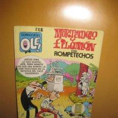 Tebeos: MORTADELO Y FILEMON CON ROMPETECHOS. COLECCION OLE 228-M25. EDICIONES B. 1987.. Lote 141805254