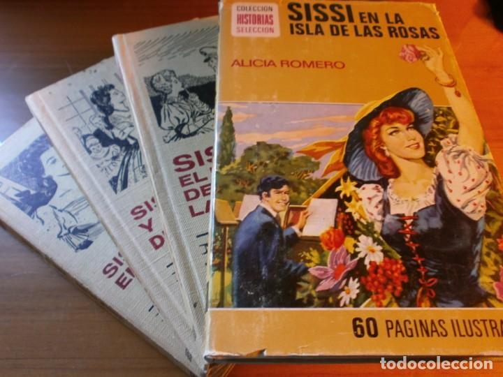 LOTE 4 HISTORIAS SELECCIÓN - SERIE SISSI - Nº 5, 6, 11,13 - MARCEL D'ISARD - EDT. BRUGUERA, AÑOS 60. (Tebeos y Comics - Bruguera - Sissi)