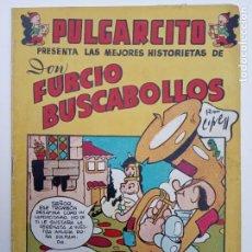 Tebeos: PULGARCITO ORIGINAL - VACACIONES TODO EL AÑO - DON FURCIO BUSCABOLLOS - EXCELENTE ESTADO. Lote 142208758