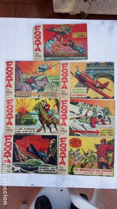 FOGATA ORIGINALES LOTE - NºS - 18,17,16,14,13,12,5 EDITOORIAL MAGA 1963 (Tebeos y Comics - Bruguera - Otros)
