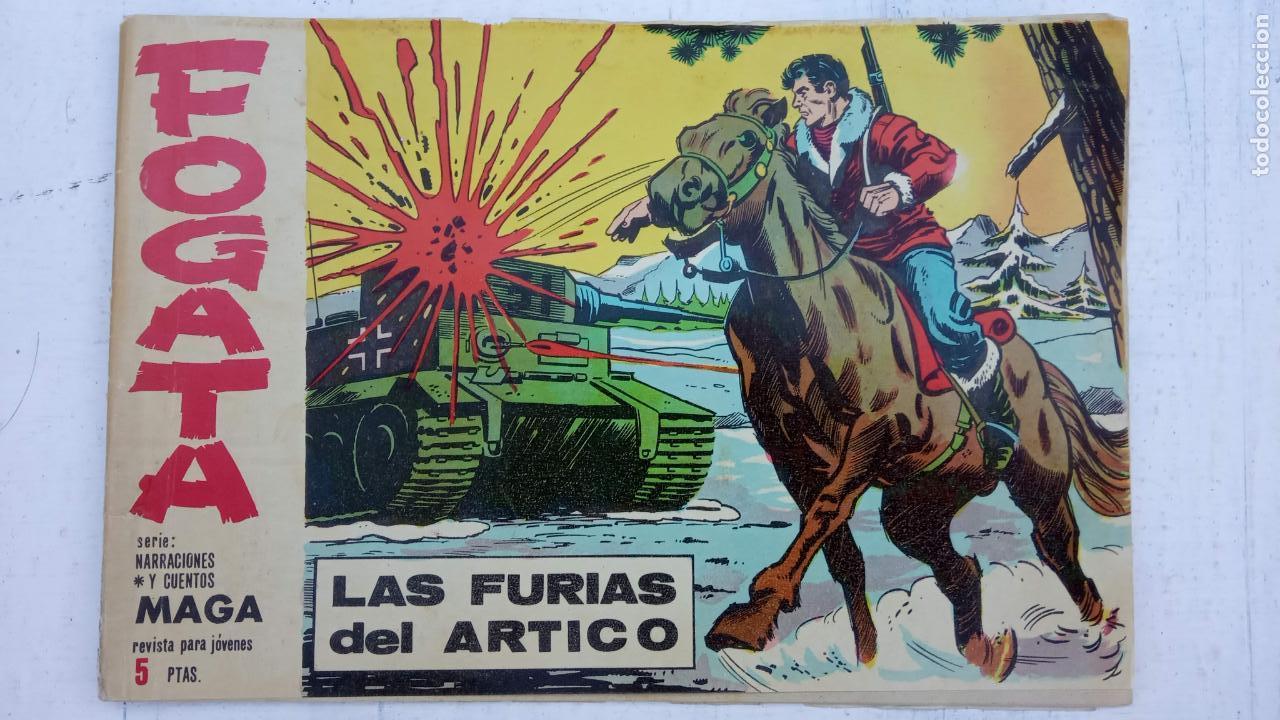 Tebeos: FOGATA ORIGINALES LOTE - NºS - 18,17,16,14,13,12,5 EDITOORIAL MAGA 1963 - Foto 4 - 142361926