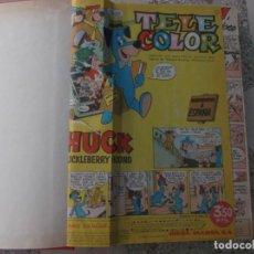 Tebeos: TELE COLOR Nº 1 AL 28 ENCUADERNADO CON TAPAS .AÑO 1963,ESTA RECORTADO BIEN ,EDITORIAL-BRUGUERA. Lote 142514610