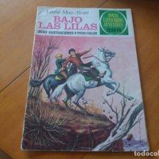Tebeos: BAJO LAS LILAS. LOUISE MAY ALCOTT. JOYAS LITERARIAS. BRUGUERA. N° 169. PRIMERA EDICIÓN, 1976.. Lote 142769182
