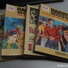 Tebeos: COLECCIÓN HISTORIAS SELECCIÓN - SERIE HARDY BOYS / LOTE CON 4 LIBROS / BRUGUERA. Lote 113762043