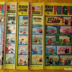 Tebeos: LOTE 5 COMICS PULGARCITO. BRUGUERA. AÑO XLVIII. DISTINTOS. Lote 143190174