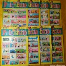 Tebeos: LOTE 8 COMICS PULGARCITO. BRUGUERA. AÑO LIII. DISTINTOS. Lote 143195638