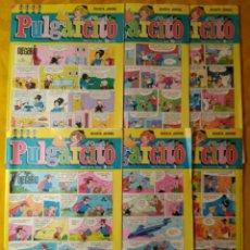 Tebeos: LOTE 6 COMICS PULGARCITO. BRUGUERA. AÑO LIV. DISTINTOS. Lote 143196466