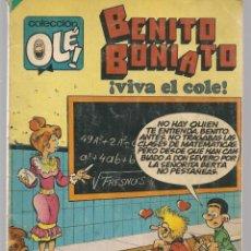 Tebeos: OLÉ!. BENITO BONIATO. Nº 9. BRUGUERA. 1ª EDC. 1984. (C/A47). Lote 143298798