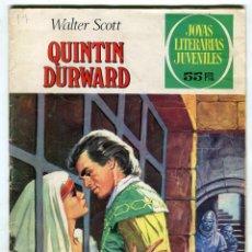 Tebeos: WALTER SCOTT QUINTIN DURWARD JOYAS LITERARIAS JUVENILES Nº 67 EDIT. BRUGUERA AÑO 1976. Lote 143551778